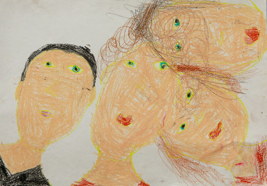 02.	Lara Coleman, 'Family Portrait', Yr 1, Bundarra Central School
