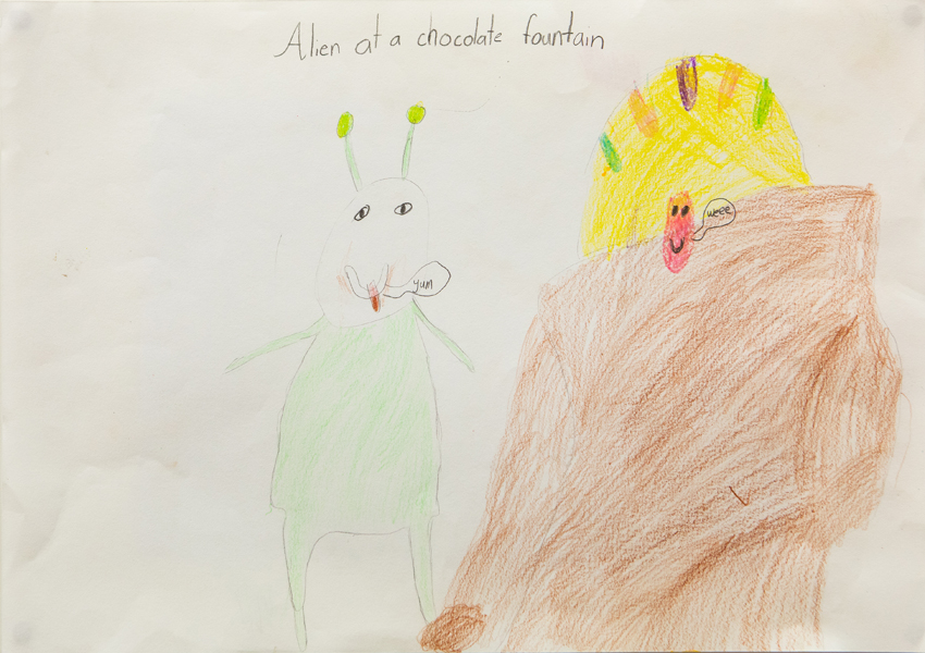 03. Evie Donaldson, 'Alien at a Chocolate Fountain', Yr 2, Presbyterian Ladies' College, Armidale