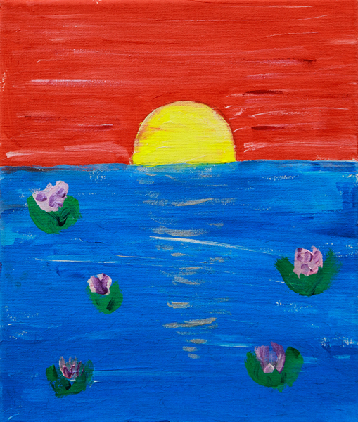 12. Lexie Kay, 'Happiness at Sunset', Yr 1, Presbyterian Ladies College, Armidale