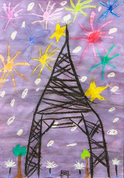 13.Birdie-Jean Lalor, 'Fireworks in Paris', Yr 2, St Joseph's Primary School, Uralla