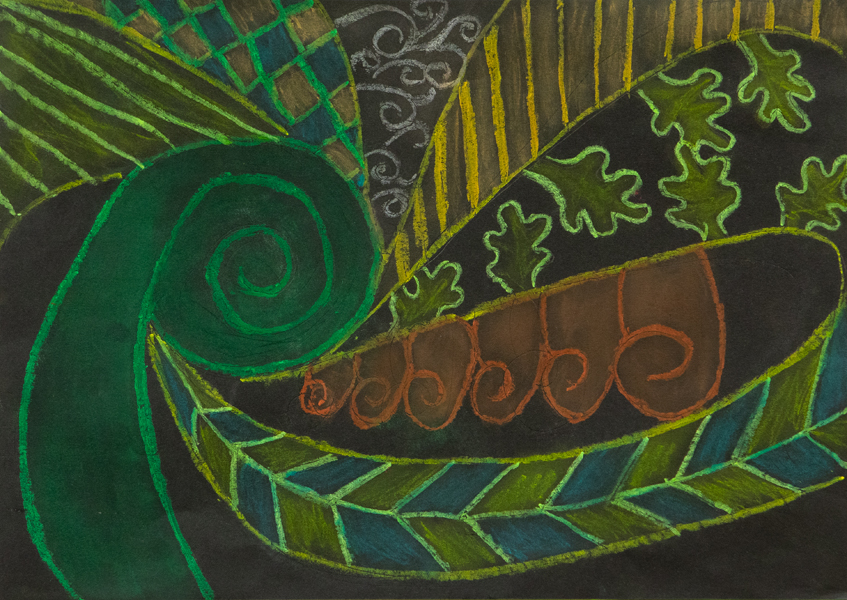 38. Emily Lyttle, 'Leaves', Yr 5, Hastings Public School, Port Macquarie