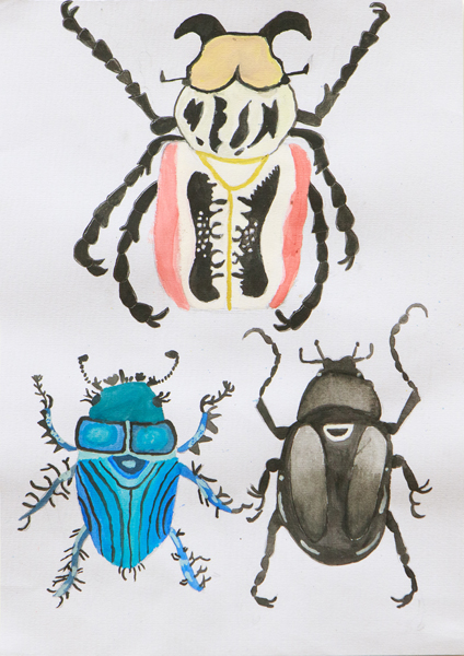 40. Luca Pine, 'Three Beetles', Yr 5, Armidale Waldorf School