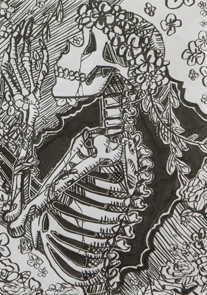 53. Kya-Rose Read, 'Skeleton', Yr 9, Tenterfield High School