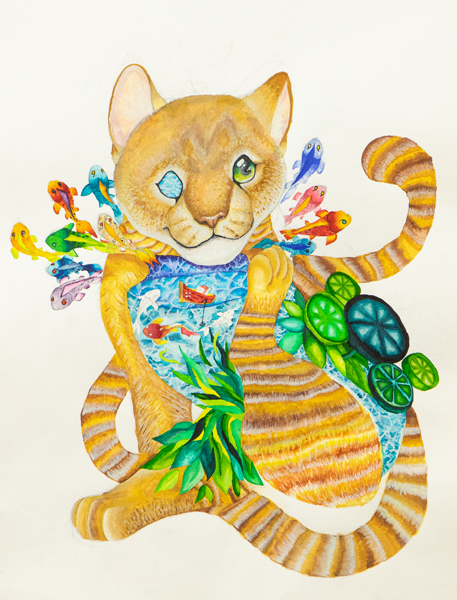 64. Elinor Summers, 'River of the Alley Cat', Yr 11, O'Connor Catholic College, Armidale