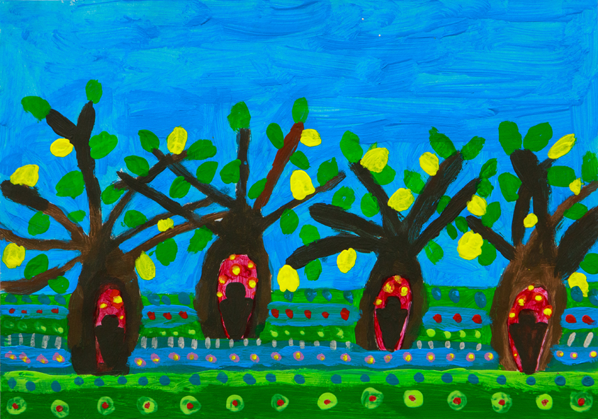44. Ruby Thuhan, 'Boab Trees in Tamworth', Yr 4, Tamworth Public School