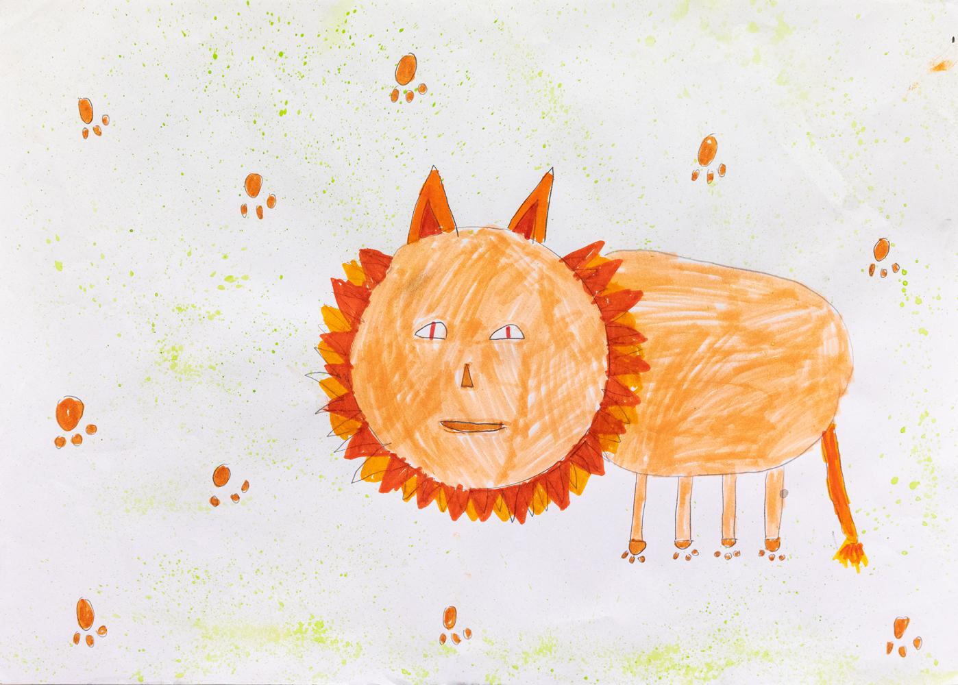 15. Abbey Roberts, 'The lion picture', texta, paint, Year 3, Dorrigo Public School