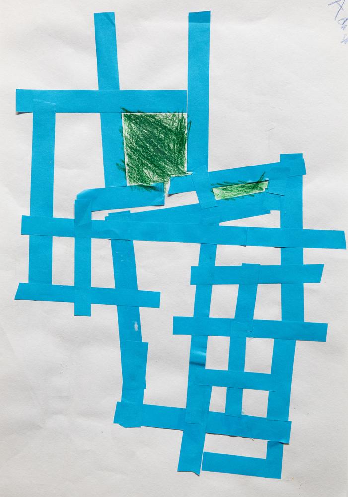 01. Adan Poflotski, 'The croc (Mondrian-style)', Collage pencil, Year 1, Ben Venue Public School