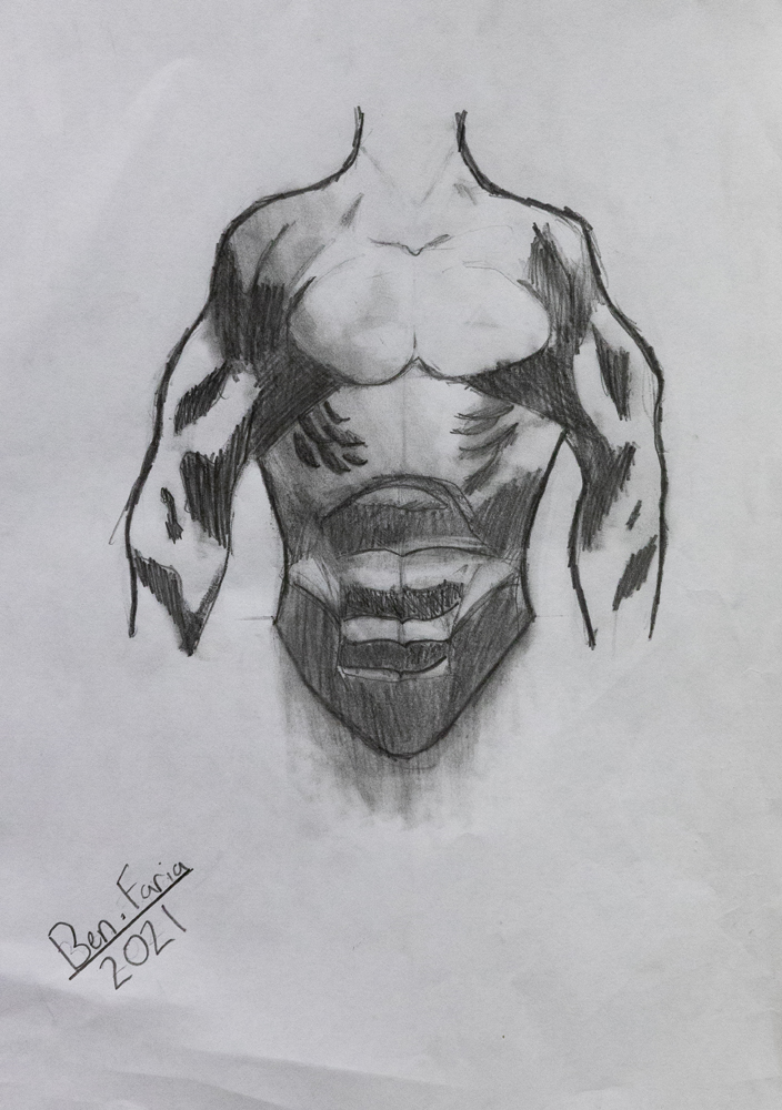 35. Benjamin Faria, 'Anatomy', lead pencil, Year 7, O'Connor Catholic College