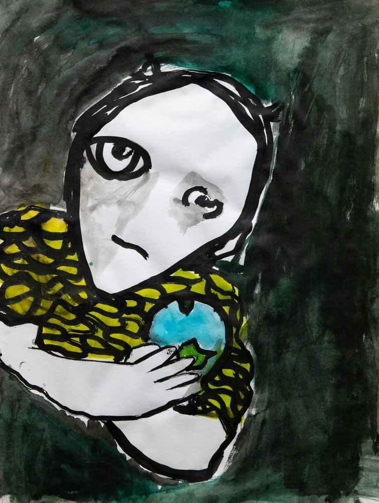 18. Dana Navkhosh, 'Hester's eyes are different to mine', Watercolour, Indian ink, Year 4, Martin's Gully Public School