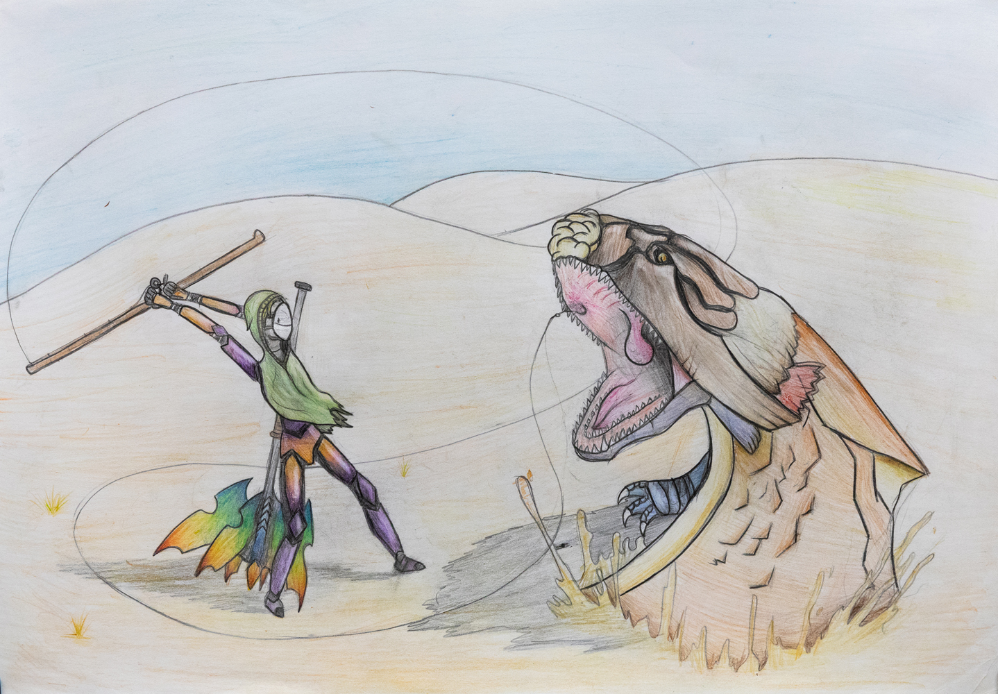 36. Daniel Gomez, 'Dream Big', pencil drawing, Year 7, Bingara Central School