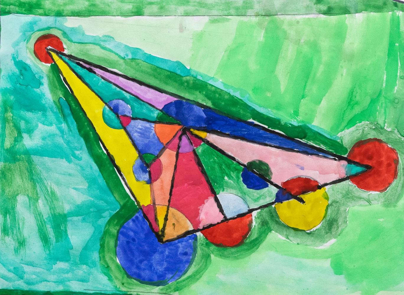 20. Danny Willey, 'Kandinsky', watercolour, Year 4, Drummond Memorial Public School
