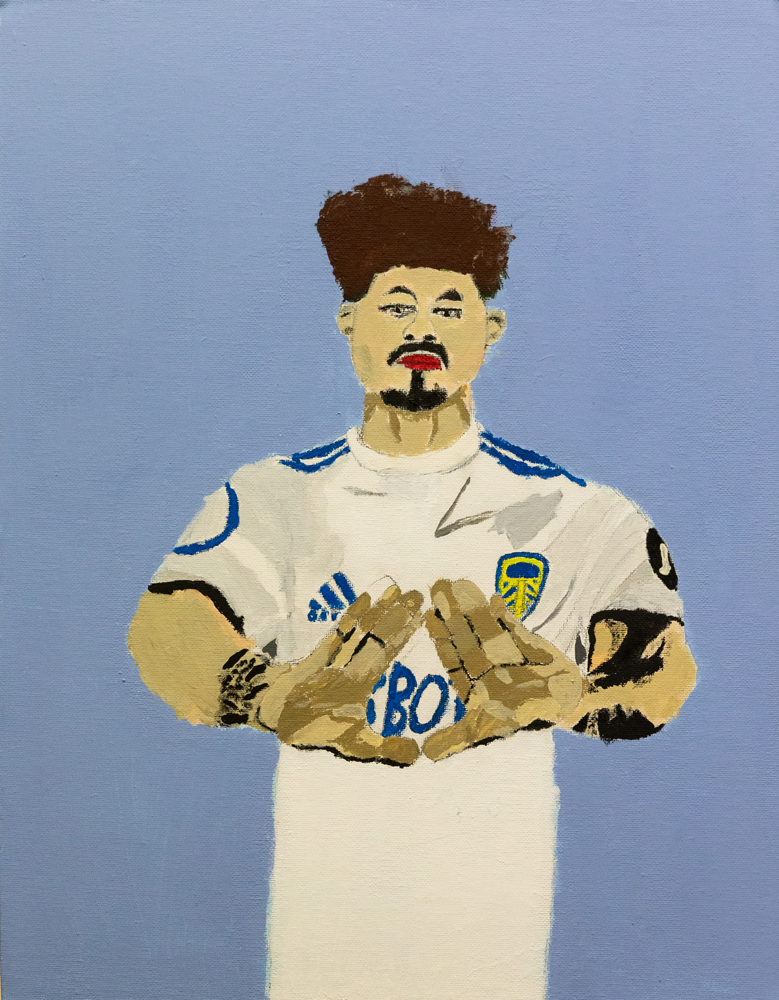 50. Dante Lloyd, 'Portrait of Kalvin Phillips', acrylic paint, Year 10, Guyra Central School