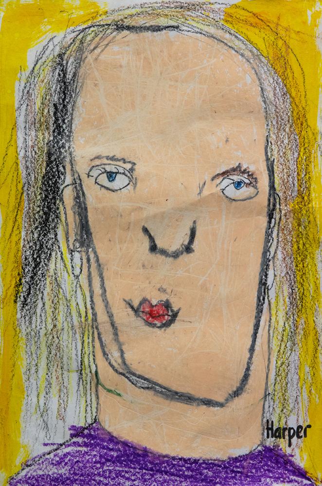 03. Harper Maher, 'My Mum', pencil, crayon, Year 1, St Joseph's Primary School, Port Macquarie