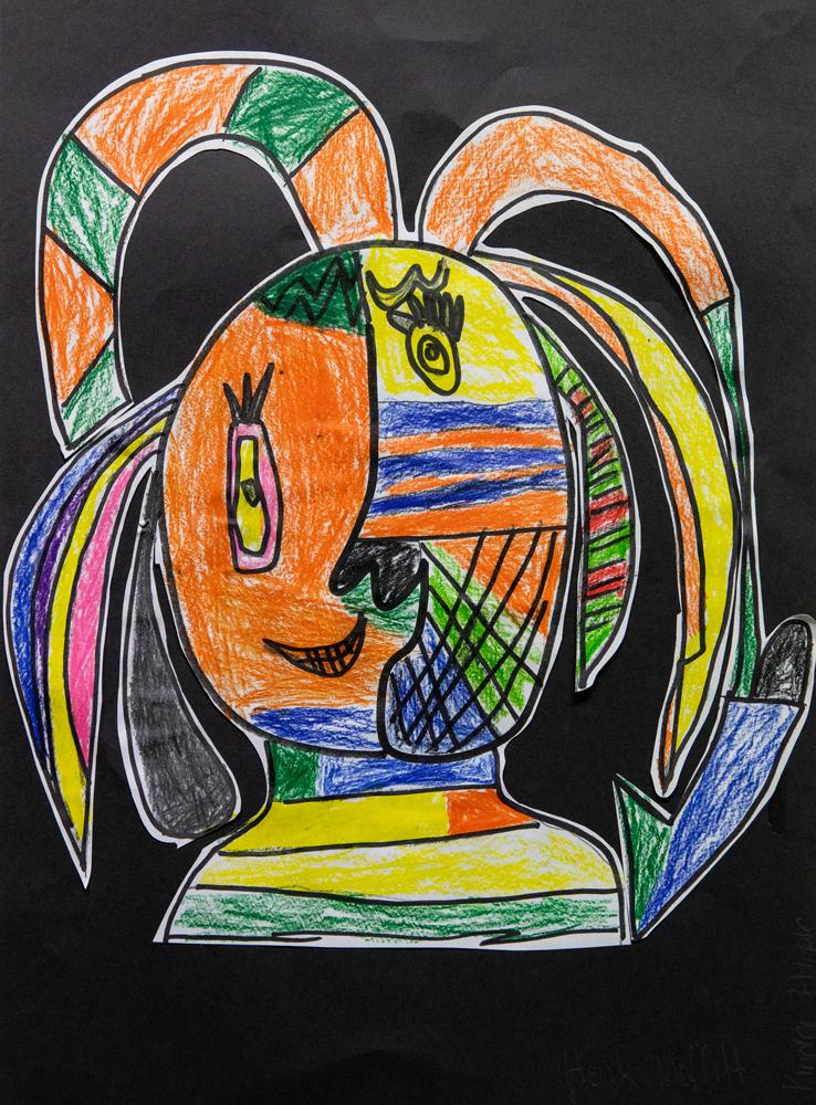 04. Henk Moffitt, 'The Decklow', pencil drawing, Kindergarten, Armidale City Public School