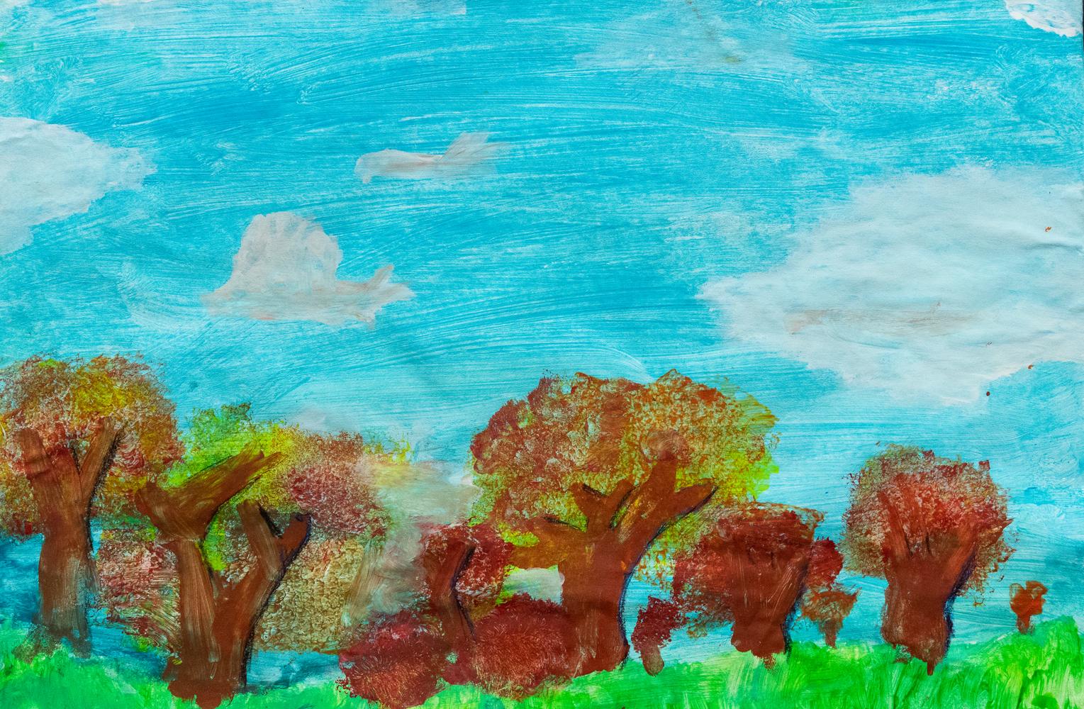 23. Kimi Jordan, 'Autumn painting', acrylic, Year 3, Chandler Public School