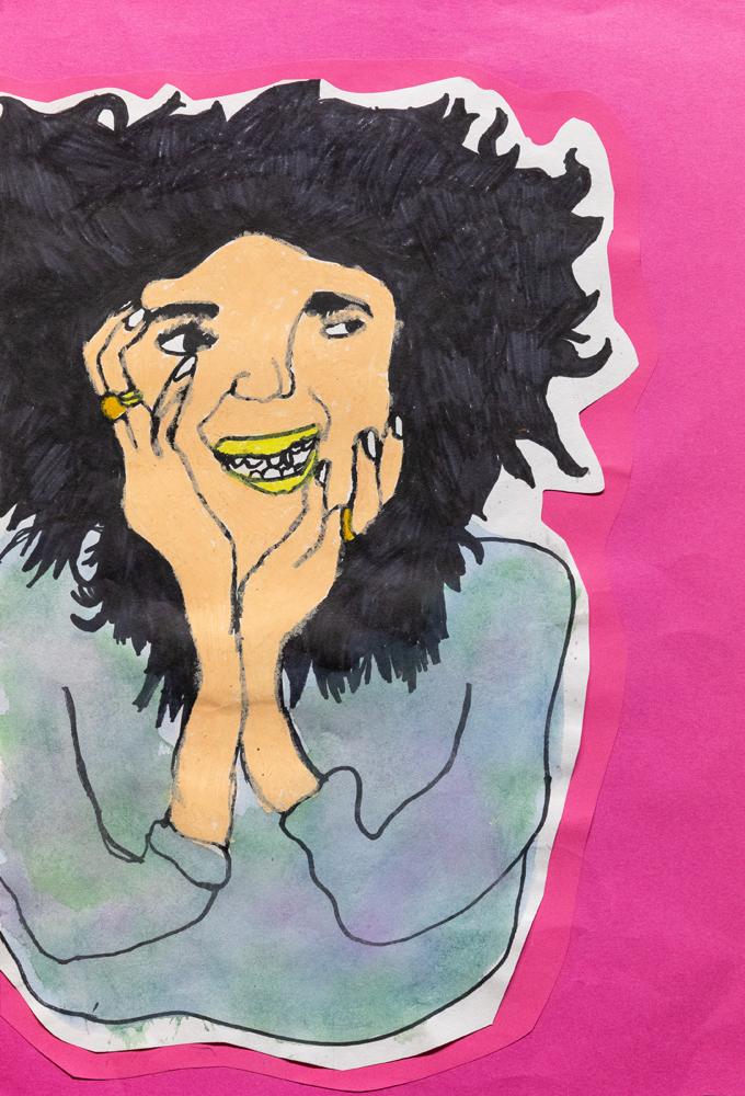 25. Lilly Cullinan, 'My crazy Mum', oil pastel, paint, Year 6, Tamworth Public School