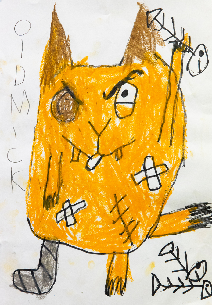 26. Nash Goodwin, 'Old Mick', Oil pastel, sharpie, Year 5, Kentucky Public School