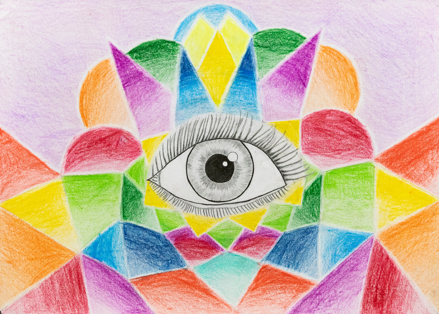 29. Qynn Stamer, 'Seeing through the rainbow', pencil, pen, Year 4, Home School