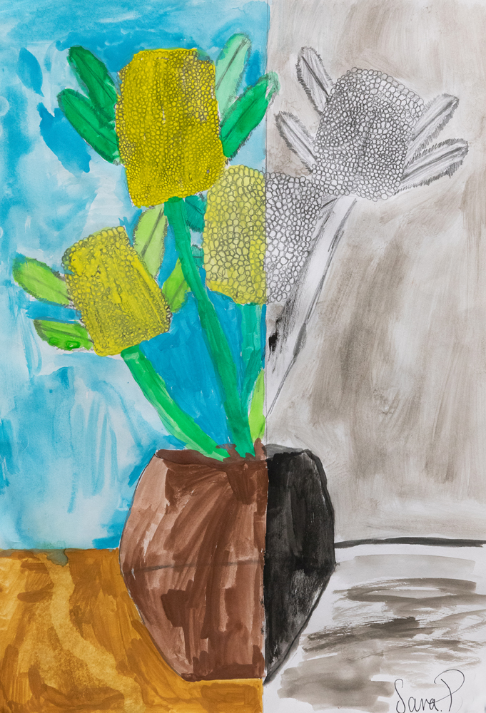 30. Sara Pittman, 'Kapa Panako', pencil, watercolour, Year 6, St Patrick's School, Walcha