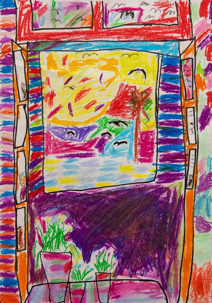 32. Seth Patterson, 'An open window', Oil pastel, Year 3, Black Mountain Public School