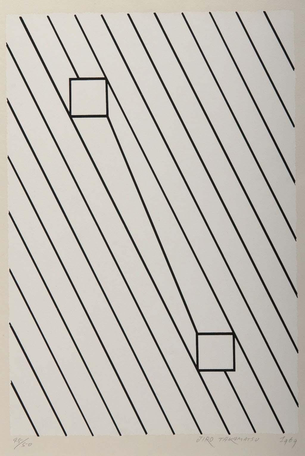 Jiro Takamatsu, 'Untitled', 1969, screenprint, Gift of Chandler Coventry 1979